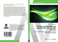 Capa do livro de Surface modification of aramid fiber by air DBD plasma