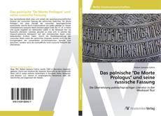 """Das polnische """"De Morte Prologus"""" und seine russische Fassung kitap kapağı"""