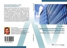Portada del libro de Unternehmenskultur in der Dienstleistungsbranche