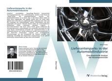 Capa do livro de Lieferantenparks in der Automobilindustrie