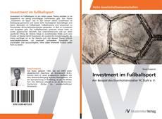 Couverture de Investment im Fußballsport