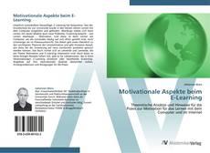 Bookcover of Motivationale Aspekte beim E-Learning