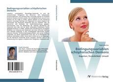 Bedingungsvariablen schöpferischen Denkens kitap kapağı