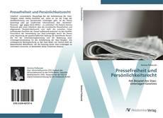 Обложка Pressefreiheit und Persönlichkeitsrecht