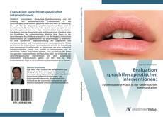 Couverture de Evaluation sprachtherapeutischer Interventionen: