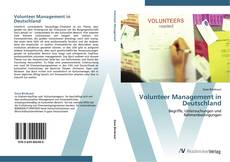 Capa do livro de Volunteer Management in Deutschland