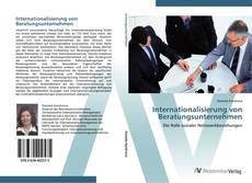 Capa do livro de Internationalisierung von Beratungsunternehmen
