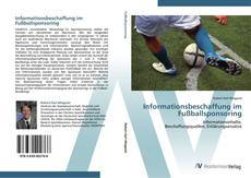 Bookcover of Informationsbeschaffung im Fußballsponsoring