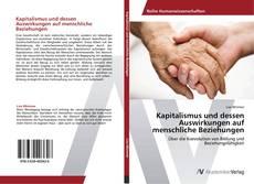 Bookcover of Kapitalismus und dessen Auswirkungen auf menschliche Beziehungen