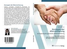 Bookcover of Konzepte der Alterssicherung