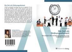 Capa do livro de Die Zeit als Ordnungselement