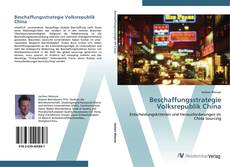 Bookcover of Beschaffungsstrategie Volksrepublik China