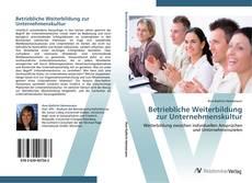 Portada del libro de Betriebliche Weiterbildung zur Unternehmenskultur