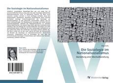 Die Soziologie im Nationalsozialismus kitap kapağı