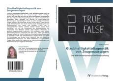 Capa do livro de Glaubhaftigkeitsdiagnostik von Zeugenaussagen