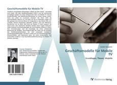 Capa do livro de Geschäftsmodelle für Mobile TV
