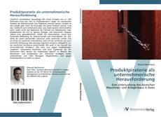 Bookcover of Produktpiraterie als unternehmerische Herausforderung