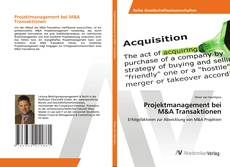 Buchcover von Projektmanagement bei M&A Transaktionen