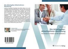 Die Arbeitgeber-Arbeitnehmer-Beziehung kitap kapağı