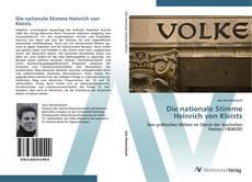 Copertina di Die nationale Stimme Heinrich von Kleists