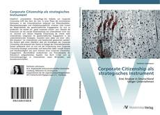 Buchcover von Corporate Citizenship als strategisches Instrument
