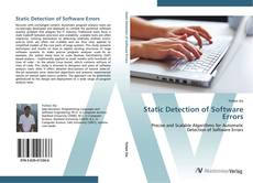 Static Detection of Software Errors kitap kapağı
