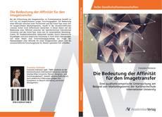 Capa do livro de Die Bedeutung der Affinität für den Imagetransfer