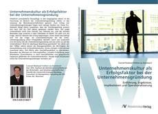 Bookcover of Unternehmenskultur als Erfolgsfaktor bei der Unternehmensgründung