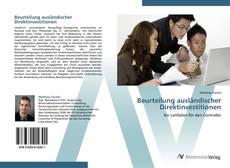 Beurteilung ausländischer Direktinvestitionen kitap kapağı