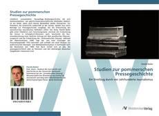 Buchcover von Studien zur pommerschen Pressegeschichte