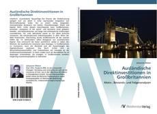 Bookcover of Ausländische Direktinvestitionen in Großbritannien