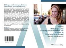 Borítókép a  Bildungs- und Trainingsmaßnahmen für Frauen in Führungspositionen - hoz