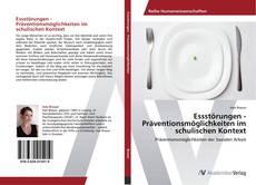 Обложка Essstörungen - Präventionsmöglichkeiten im schulischen Kontext