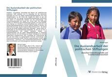 Capa do livro de Die Auslandsarbeit der politischen Stiftungen