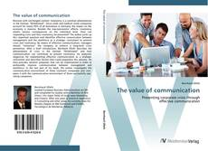 Bookcover of The value of communication