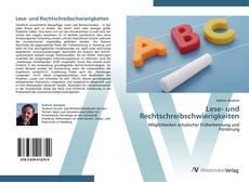 Обложка Lese- und Rechtschreibschwierigkeiten