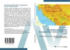 Capa do livro de Die Balkanpolitik der Europäischen Union 1991 bis 2001