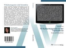 Bookcover of TV-Kulturmagazine in der Formatkrise