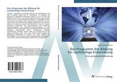 Portada del libro de Das Programm der Bildung für nachhaltige Entwicklung