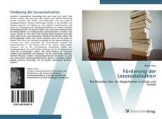 Обложка Förderung der Lesesozialisation