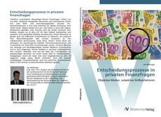 Capa do livro de Entscheidungsprozesse in privaten Finanzfragen
