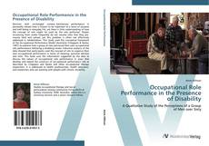 Capa do livro de Occupational Role Performance in the Presence of Disability