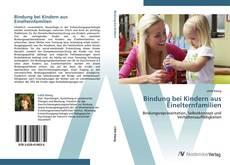 Bookcover of Bindung bei Kindern aus Einelternfamilien