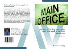 Bookcover of Factors affecting the career path and aspiration level