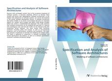 Specification and Analysis of Software Architectures kitap kapağı
