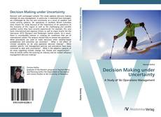 Bookcover of Decision Making under Uncertainty