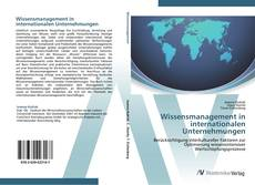 Bookcover of Wissensmanagement in internationalen Unternehmungen
