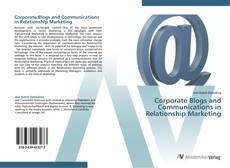 Buchcover von Corporate Blogs and Communications in Relationship Marketing