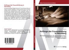 Capa do livro de Anfänge der Frauenbildung in Nürnberg