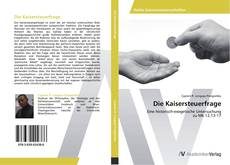Обложка Die Kaisersteuerfrage